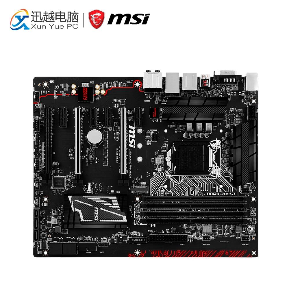 MSI Z170A GAMING PRO CARBON Desktop Motherboard Z170 Socket LGA 1151 i3 i5 i7 DDR4 64G SATA3 USB3.0 ATX asus z170 deluxe original used desktop motherboard z170 socket lga 1151 i7 i5 i3 ddr4 64g sata3 usb3 0 atx