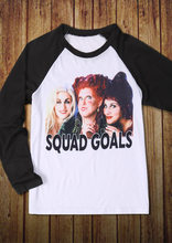 plus size women halloween t shirt 34 sleeve female tops hocus pocus squad goals baseball t shirt femme harajuku t shirt ladies