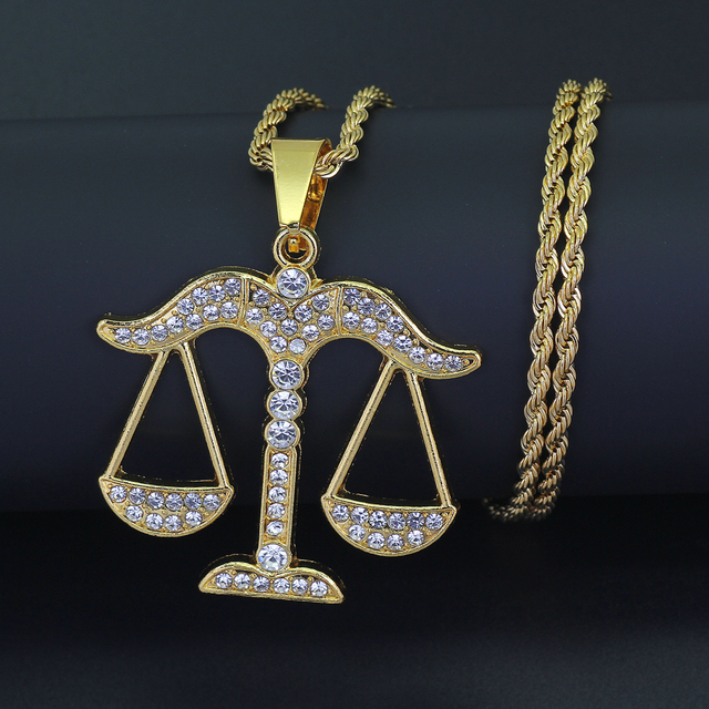 New 24inch stainless steel rope chain hip hop balance pendant new 24inch stainless steel rope chain hip hop balance pendant necklace jewelry n876 mozeypictures Images