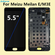 For Meizu M3E Meilan E Display+touch Screen with frame +Tools Digitizer Assembly Replacement Accessories