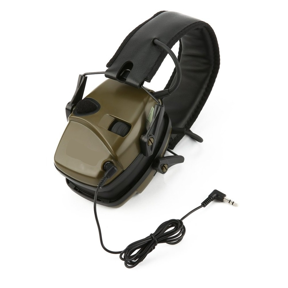 Outdoor Tactical Sports Anti-noise Sound Amplification Electronic Shooting Earmuff Hunting Hearing Protective Headset Wholesale
