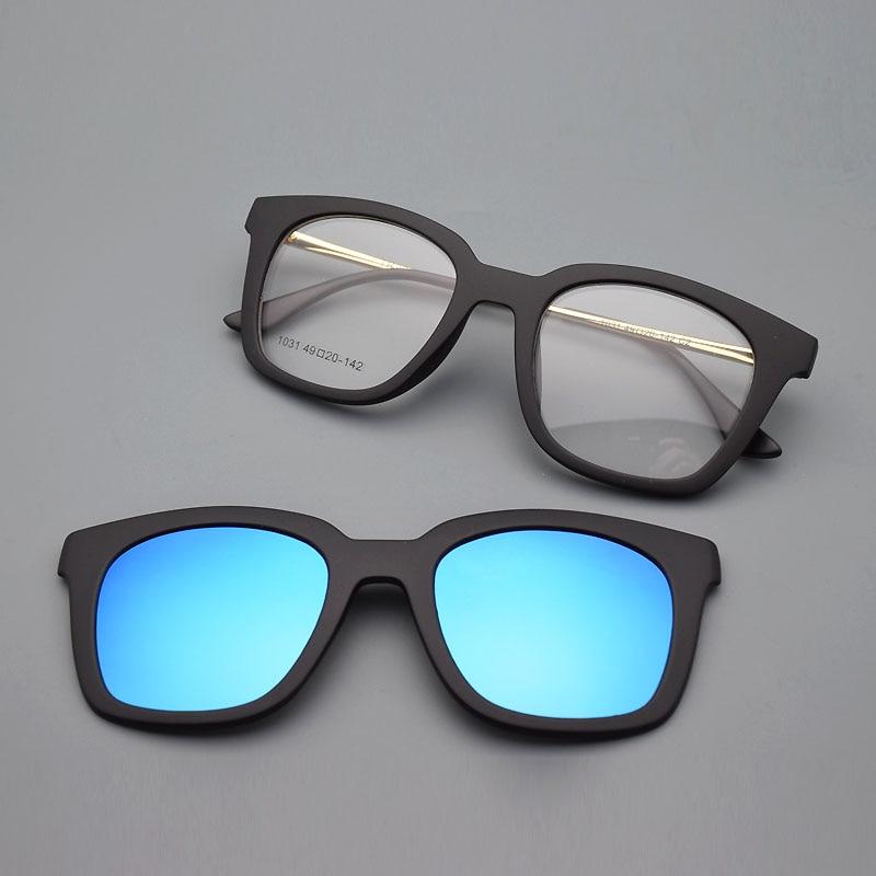 Full Frame Kacamata Bingkai Kacamata Bingkai Sabuk Klip Magnet - Aksesori pakaian - Foto 1