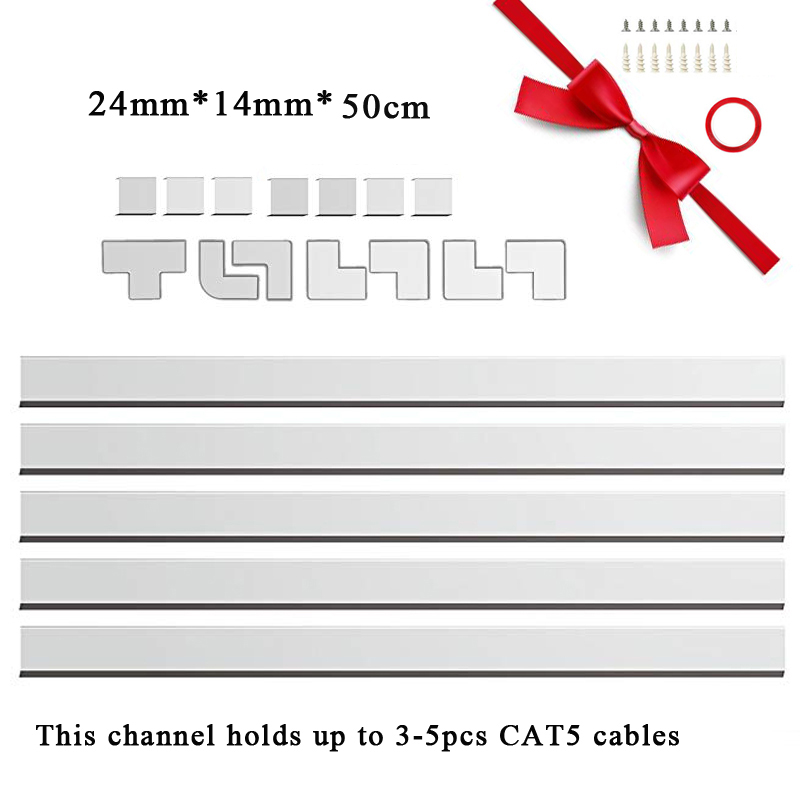 Groovy 5Pcs Cable Management Channel Cord Raceway Kit Organizing Mount Tv Wiring Digital Resources Honesemecshebarightsorg