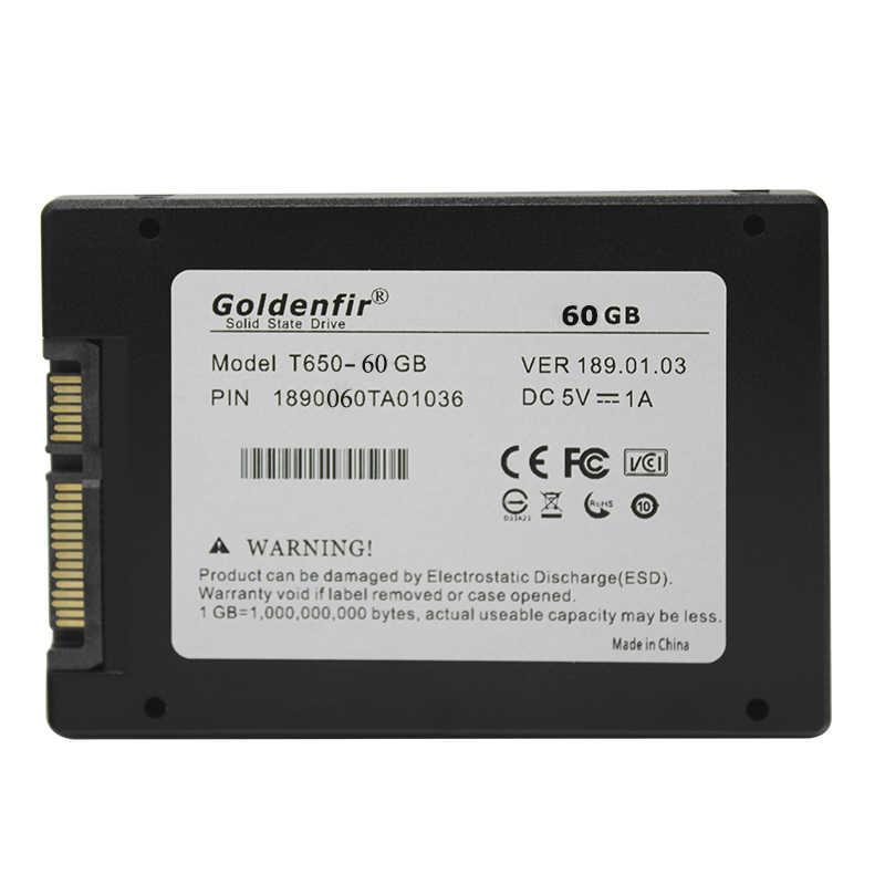 Goldenfir 2.5 SATA2 SATA3 Ssd 60 Gb 16 Gb 240 Gb Ssd da 120 Gb 240G Interno a Stato Solido 360 480G 500G 960G 1 T Hard Disk per Computer