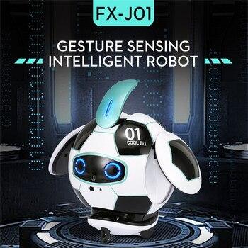 FINECO FX-J01, CoolBO, fútbol, reconocimiento de voz inteligente, Control táctil, prevención de obstaculos, juguete educativo de Robot RC