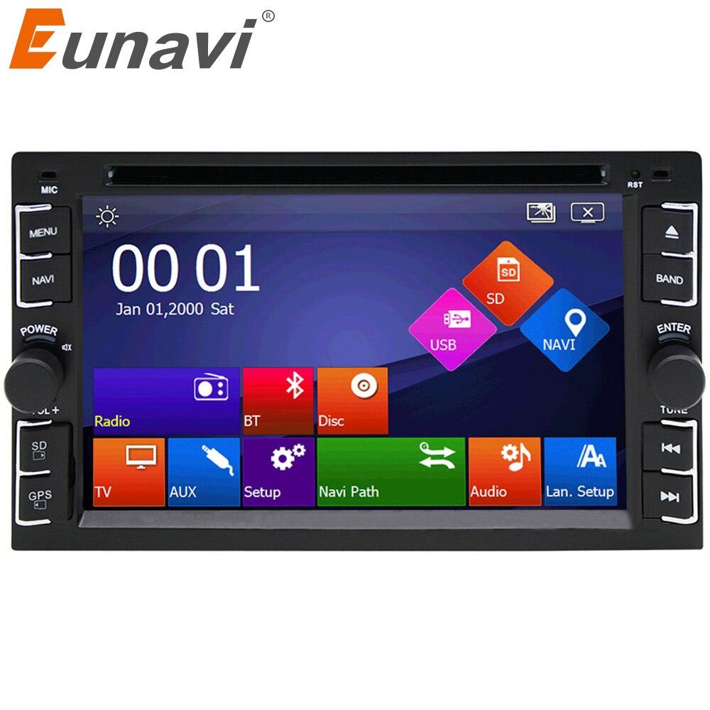 Eunavi Auto lettore DVD GPS Glonass 2 din universale per X-TRAIL Qashqai x trail juke per nissan Stereo Radio Bluetooth USB/SD