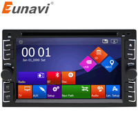 Eunavi Car DVD player GPS Glonass 2 din universal for X TRAIL Qashqai x trail juke for nissan Stereo Radio Bluetooth USB/SD