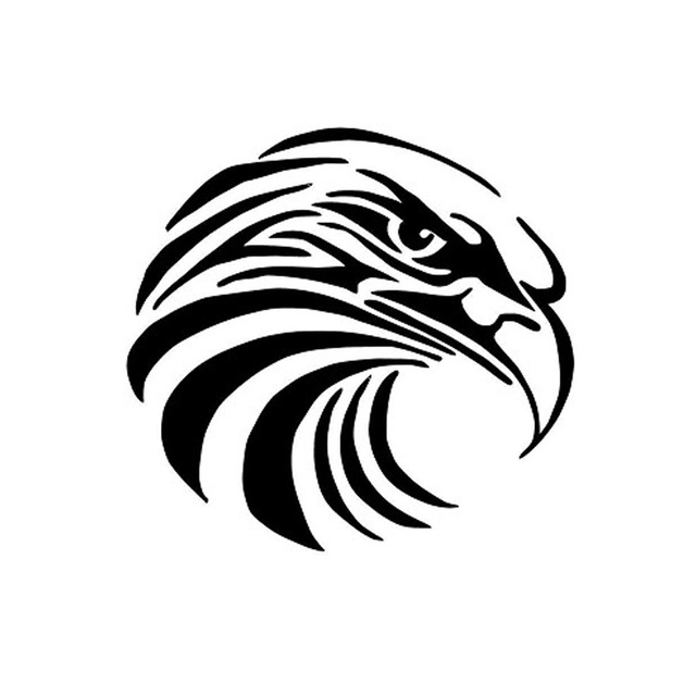1 PCS Art Eagle Round Stamp DIY Self Inking Photosensitive Seal Without Handle Funny Stamps And