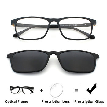 70886aaa3f Zenettic Clip en gafas de sol hombres óptico miopía Anti-Blue-Ray prescripción  gafas de sol hombres hipermetropía cuadrado gafas