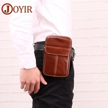 JOYIR Fanny Pack Waist Bag Genuine Leather Cell/Mobile Phone Coin Purse Pocket Vintage Hip Belt Bum Pouch