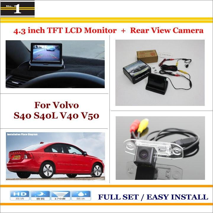 Car Reverse Backup Rear Camera 4 3 TFT LCD Screen Monitor 2 in 1 Rearview Parking