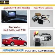 Car Reverse Backup Rear Camera + 4.3″ TFT LCD Screen Monitor = 2 in 1 Rearview Parking System – For Volvo S40 S40L V40 V50