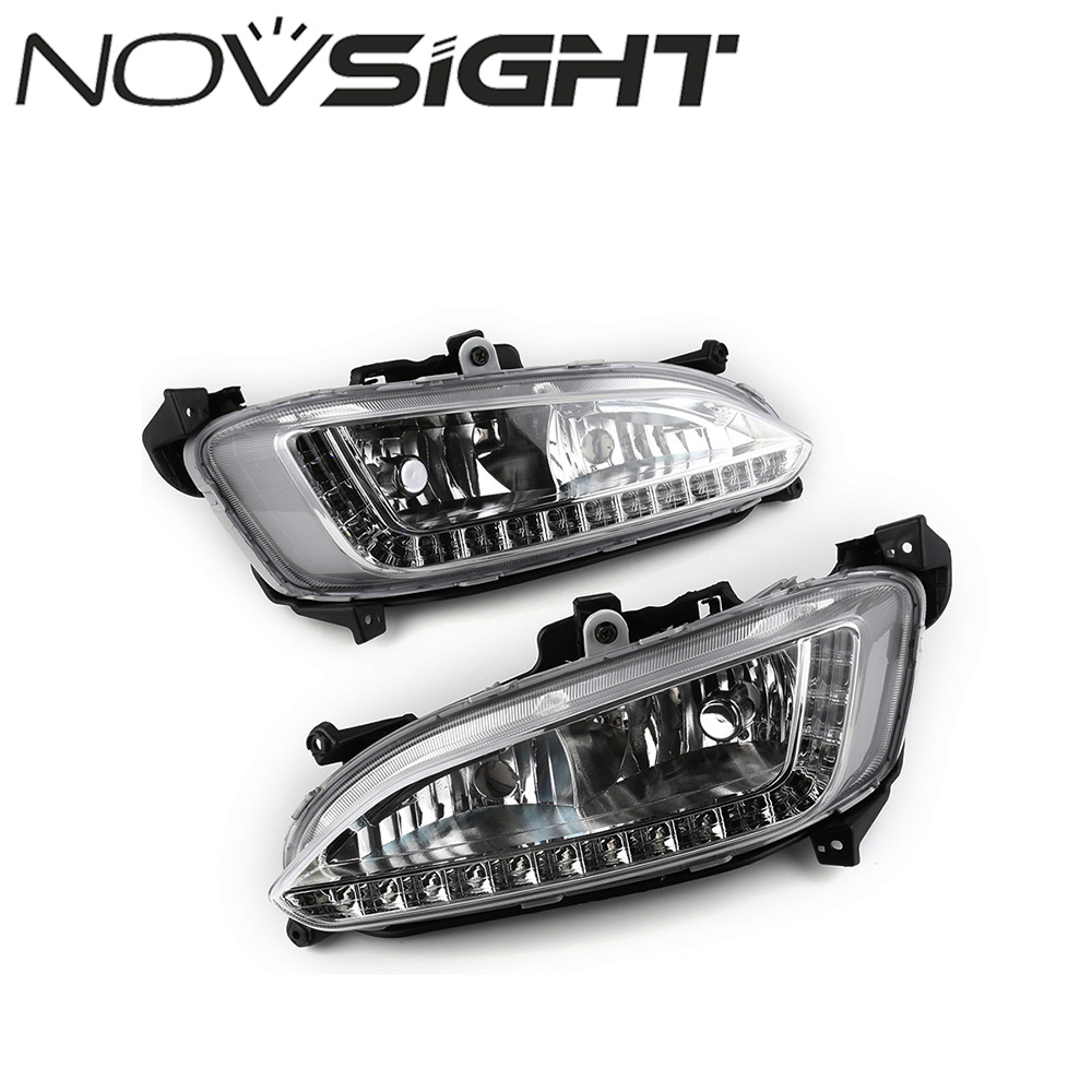 12V Auto Car Daytime Running Lights LED Daylight DRL Fog Lamp for Hyundai Grand Santa Fe ix45 2013 Free Shipping new case cover for lenovo 100 15 100 15ibd palmrest cover laptop bottom base case cover