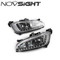 NOVSIGHT 12V Auto Car Daytime Running Lights LED Daylight DRL Fog Lamp for Hyundai Grand Santa Fe ix45 2013 D20