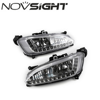 NOVSIGHT 12V Auto Car Daytime Running Lights LED Daylight DRL Fog Lamp for Hyundai Grand Santa Fe ix45 2013 D20