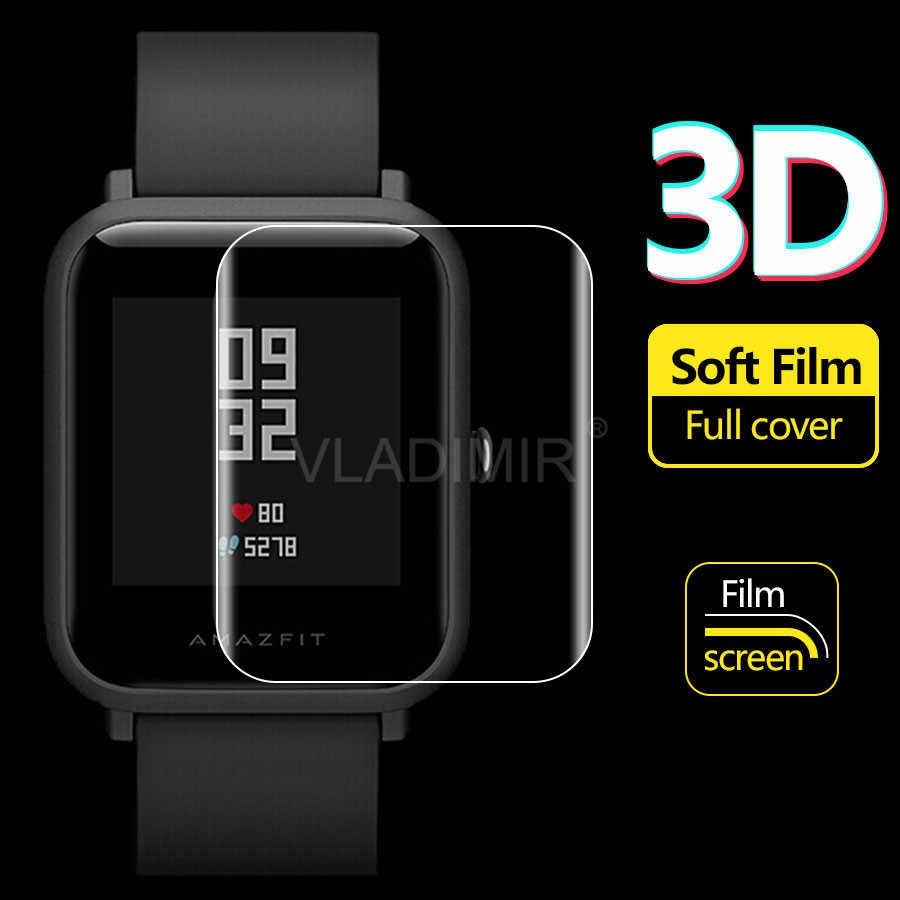 3D Soft TPU Clear Guard  Film Screen Protector For Xiaomi Huami Amazfit Bip Youth Verge 3 Stratos 2 Smart Watch (Not Glass)