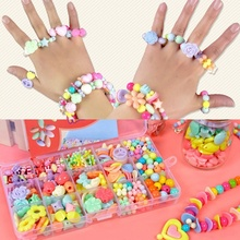 1 set kids diy jewelry making supplies mix style box for baby kids childrens jewellery