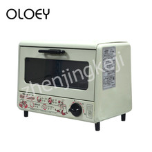 цены 110V Electric Oven Small Household Baking Box 9L Timing Low Energy Consumption Drop-down Door Retro Style Temperature Control