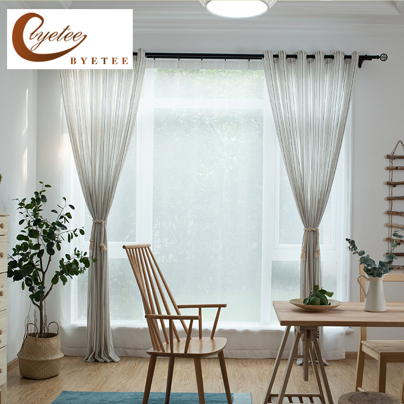 Kitchen Curtains Fabric Curtains Fabric Stripe Drapes: Aliexpress.com : Buy {byetee} Kitchen Sheer Organza