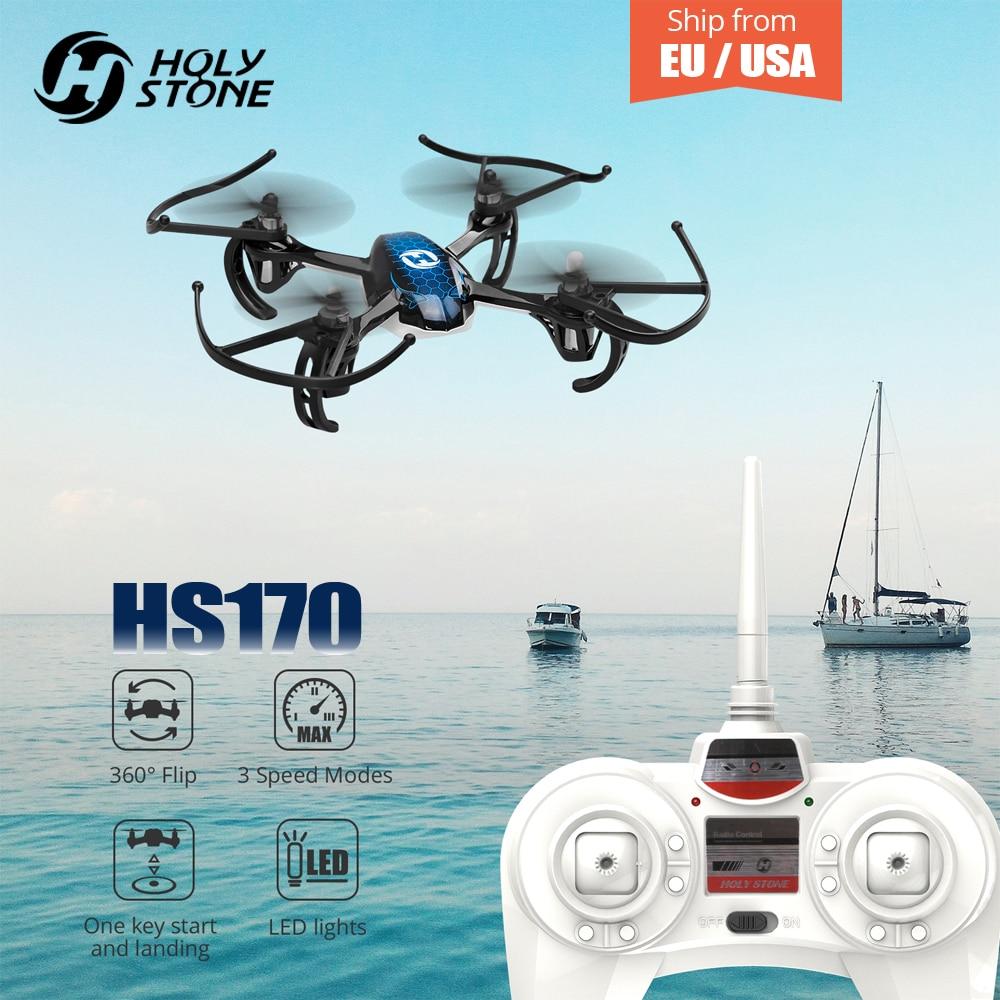 Святой камень HS170 Drone Хищник Мини вертолет 2,4 ГГц 6 оси гироскопа 4 Каналы Quadcopter один ключ возврата обезглавленный игрушки RC самолет