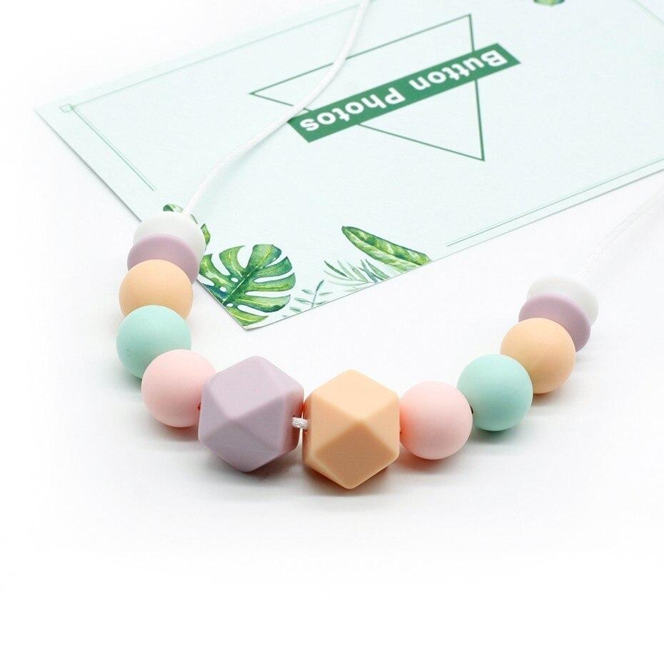 Collier de perles pour bébé et maman | Collier de qualité alimentaire en Silicone, jouets de dentition pour nourrissons, collier de soins pour tout-petits à la mode