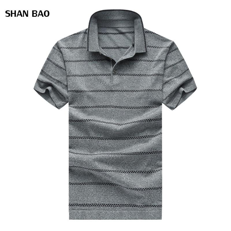 Venda quente Dos Homens Listrado Camisa Polo Moda Verão Homens - Roupas masculinas