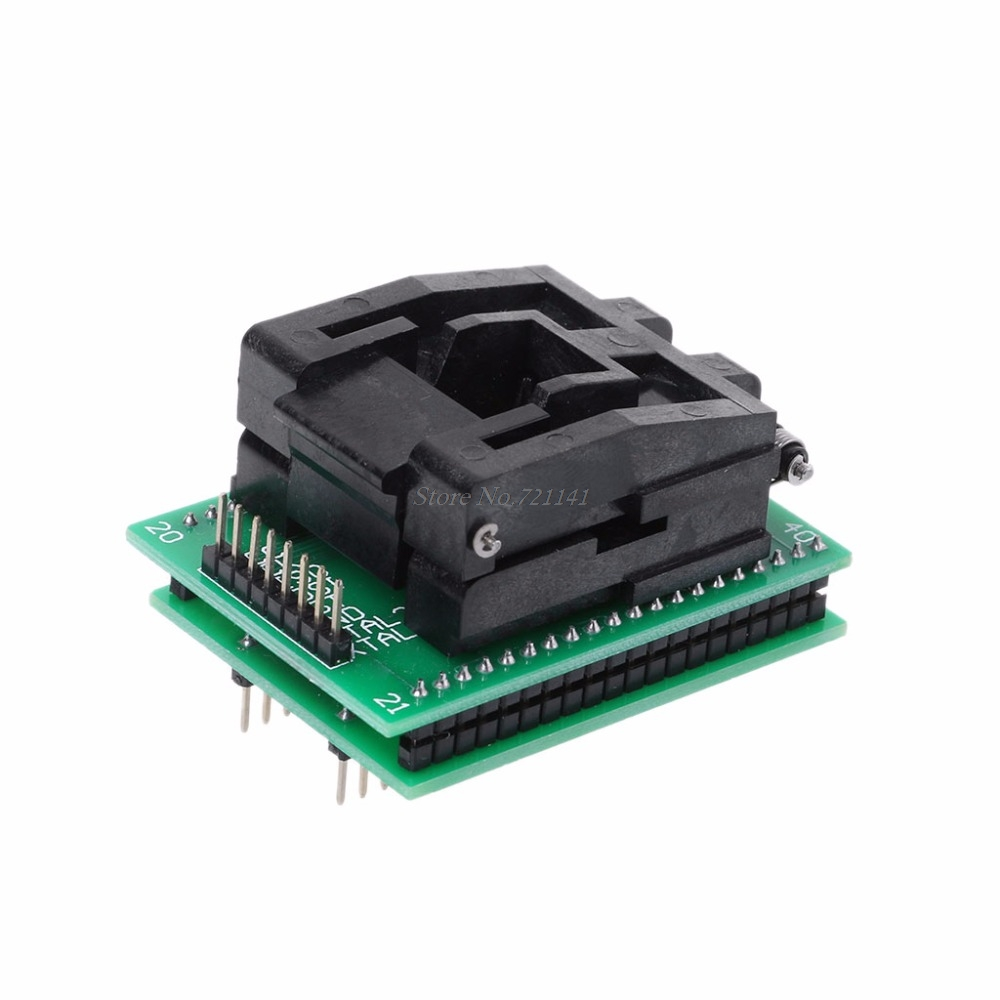 TQFP44 to DIP40 IC Socket STC Programming Adapter TQFP44 Turn DIP40 Write Seat