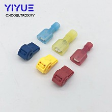 20PCS/10Pairs Male Spade & Lock Quick Splice Wire Connector Set Snap Fast Easy Lock Electrical Cable Crimp Terminal 22-10 AWG 100pcs scotch lock quick splice crimp terminal connectors set red blue yellow awg 22 10