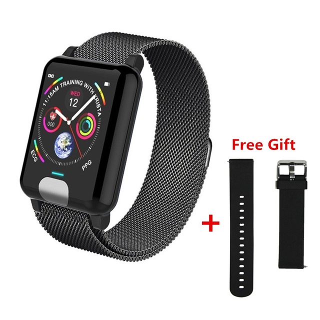 ONEVAN E04 Smart Band Fitness Tracker ECG PPG Blood Pressure Heart Rate Monitor Waterproof Smart Watch for Xiaomi Android IOS