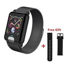 ONEVAN E04 inteligentna opaska Fitness Tracker ekg PPG ciśnienie krwi pulsometr wodoodporny inteligentny zegarek dla Xiaomi Android IOS