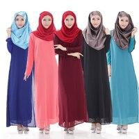 Saudi Arab clothing women chiffon muslim dress muslim abaya maxi dresses