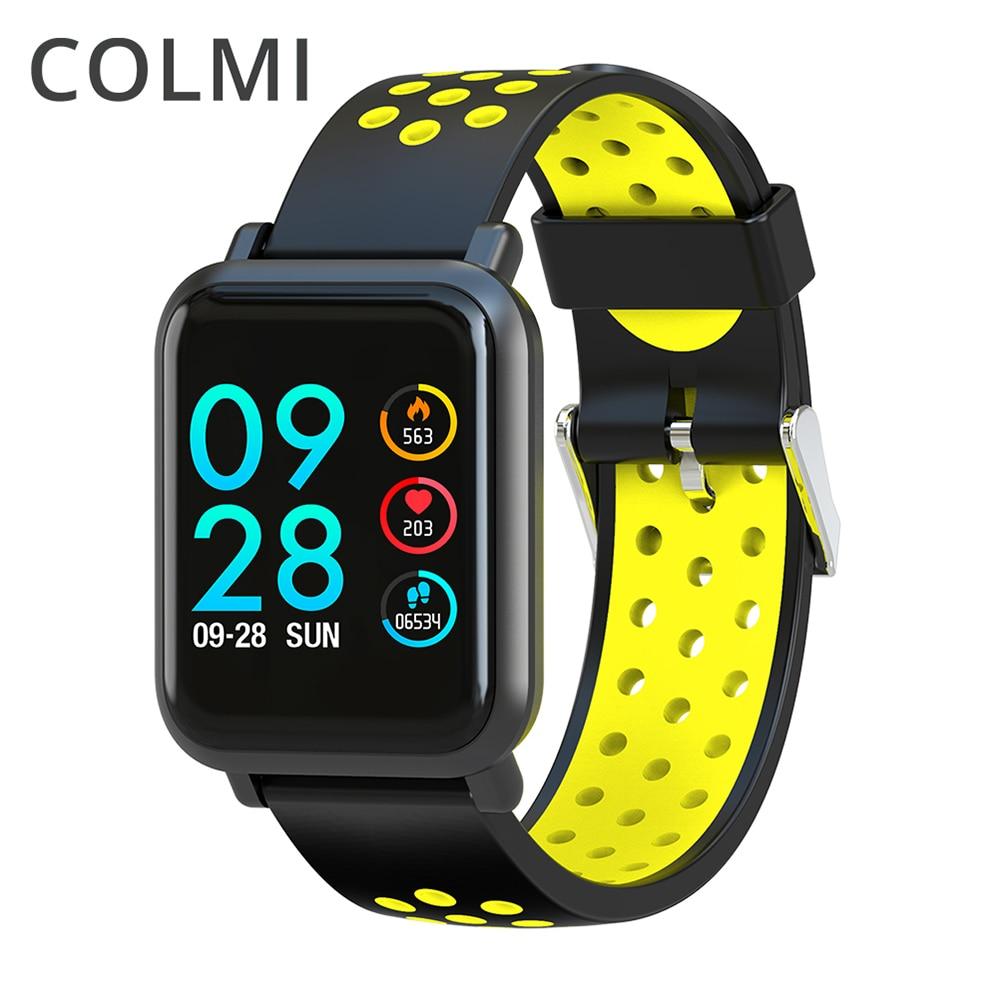 COLMI Smartwatch SN60 OLED Écran Gorilla Glass en oxygène du Sang Sang pression BORD IP68 Étanche Activité Tracker Montre Smart Watch