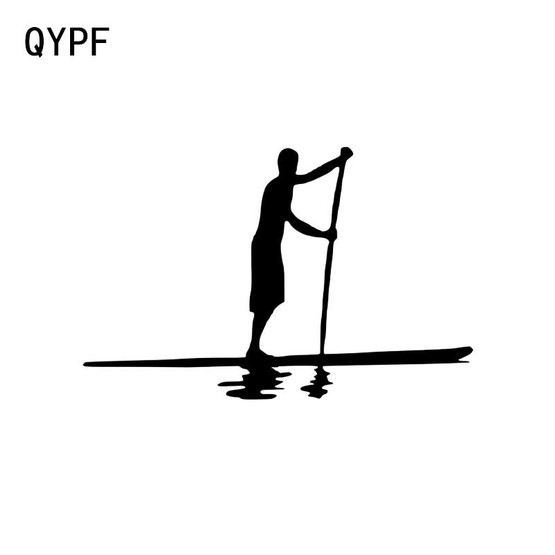 QYPF-autocollant de décoration de voiture en vinyle, 12.5x8.1CM, intéressant pour lexploration en plein air, canoë, accessoires de sports extrêmes, C16-1169
