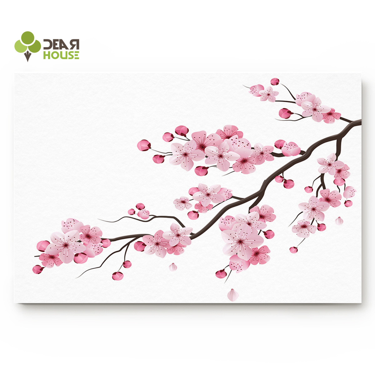 Dear House Doormat Japanese Cherry Blossom Bathroom Mat Outside Waterproof Shoes Scraper Entryway Rug Home image