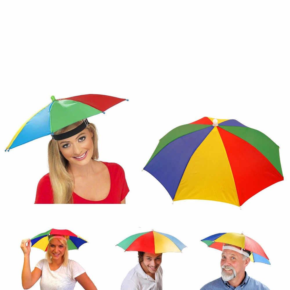 2019 Летняя мода новинка зонтик Солнцезащитная шляпа Гольф Рыбалка Кемпинг необычное платье многоцветный складной автомобиль анти-stoss аксессуары