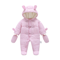 Newborn Baby Boy Girl Romper Keep Thick Warm Infant Baby Rompers Winter Clothes Jumpsuit Hooded Kid
