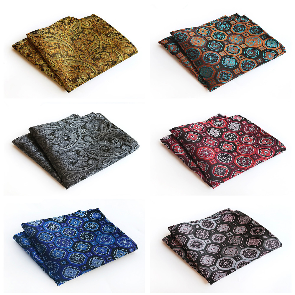 Unique Design Men's Formal Wear Retro Handkerchief Pocket Towel Explosion Models Polyester Material Fashion Suit Pocket Towel