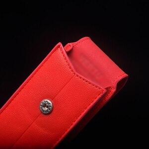 Image 4 - Роскошный чехол из натуральной кожи в деловом стиле с откидной крышкой для ведения атрибута S CEO 168 мобильный телефон, защитный чехол с полным покрытием, красный YBSV4