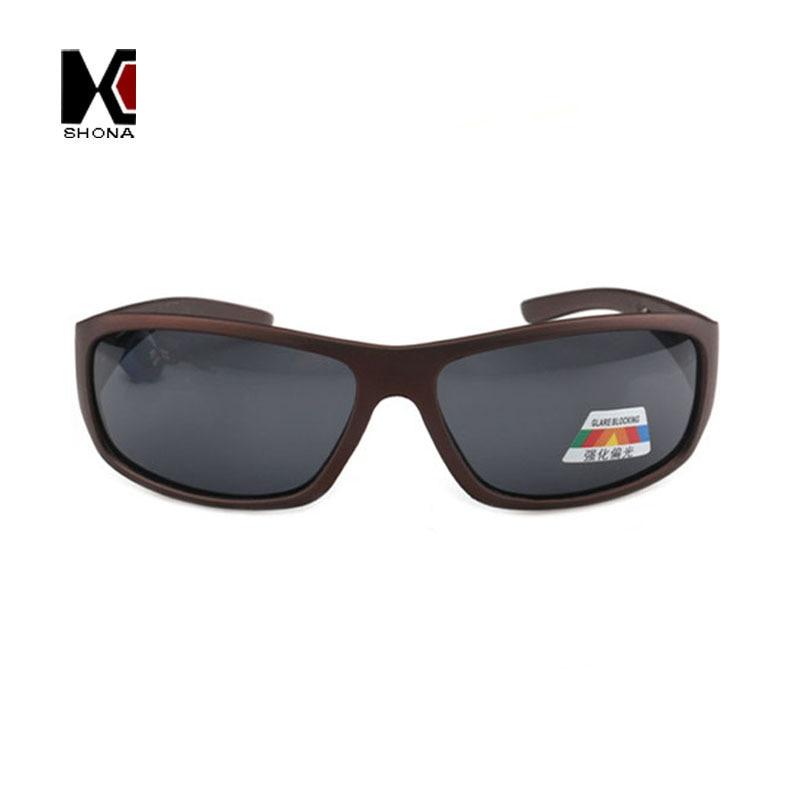 ШОНА Мода Блики Блокирование Солнцезащитные Очки Марка Дизайнер Мужчины Поляризованные Покрытия Проезда Солнцезащитные Очки UV400