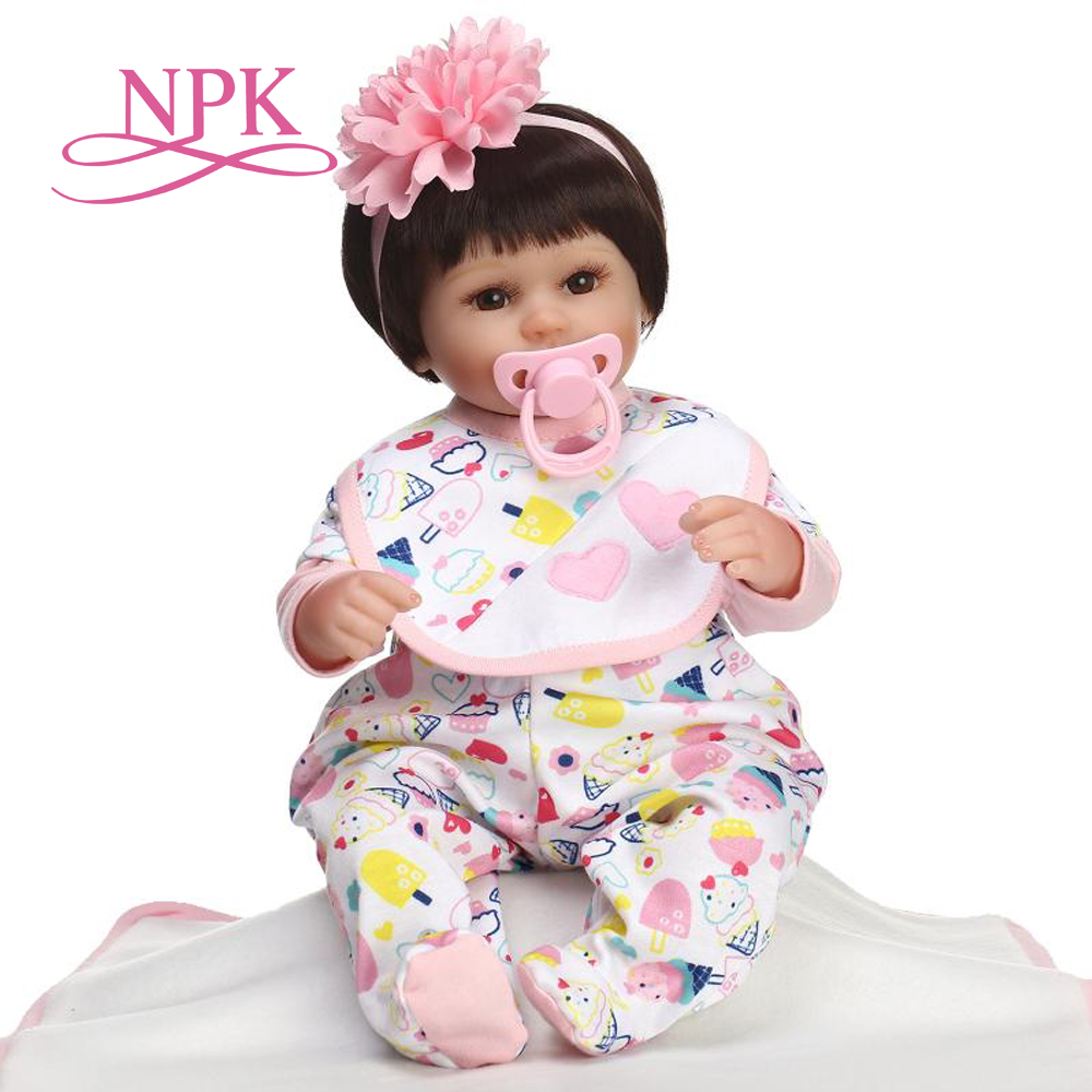 40CM bebe doll reborn lifelike lovely premmie baby doll realistic reborn baby playing toys for kids Christmas Gift very soft-in Dolls from Toys & Hobbies    1