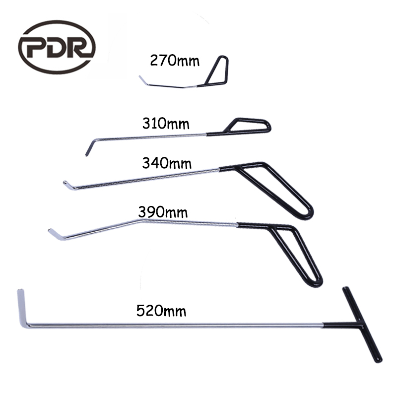 PDR Tools Hook Push Rods Paintless Dent Auto Tools Door Dent Ding Hail Damage Repair Dent Removal alpine pdr f50