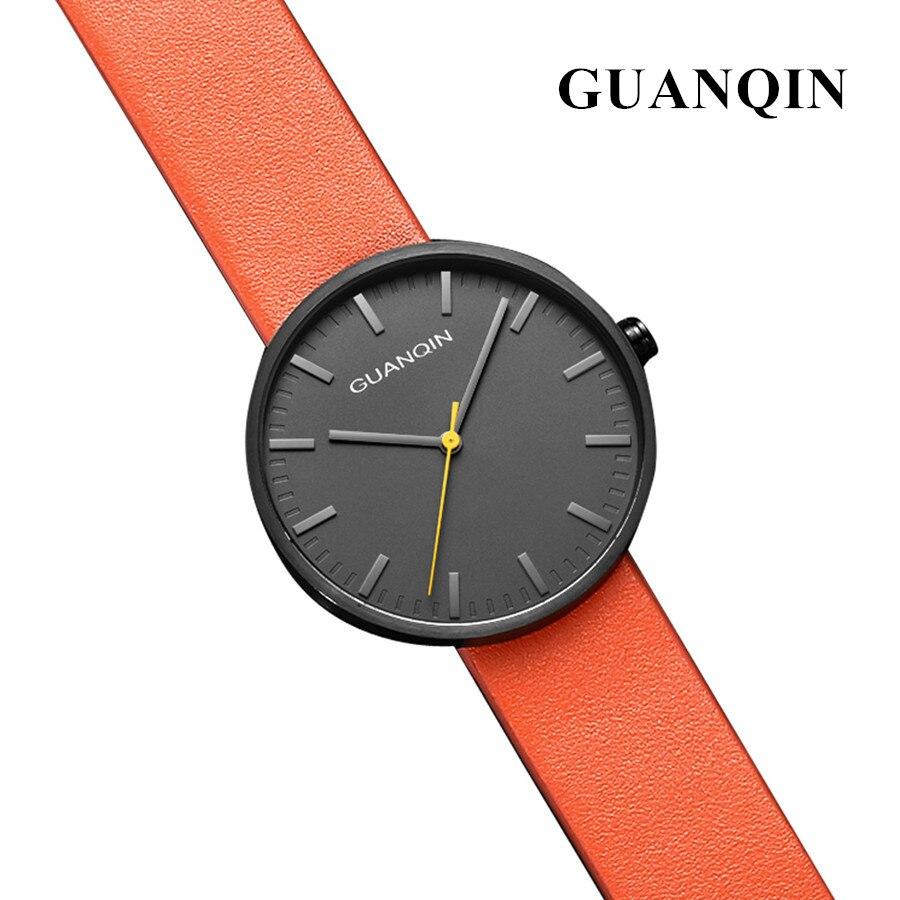 2018 montres de luxe hommes marque GUANQIN mode femmes hommes Designer robe Quartz montre mâle horloge montre-bracelet relogio masculino