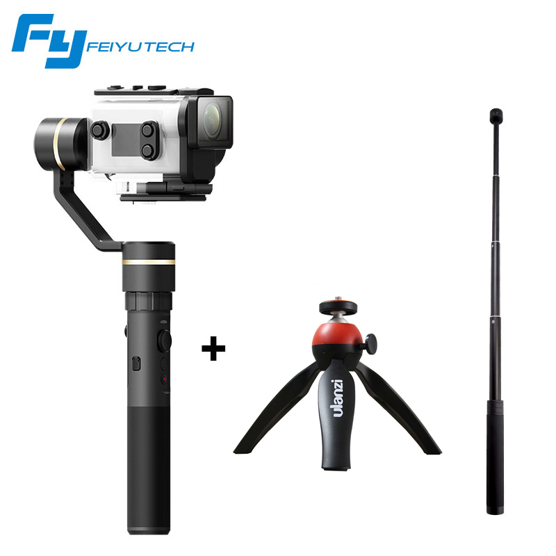 цена Feiyutech Feiyu G5GS Gimbal for Sony AS50/ FDR-X3000 with extra water-proof housing SplashProof 3-Axis Handheld Stabilizer