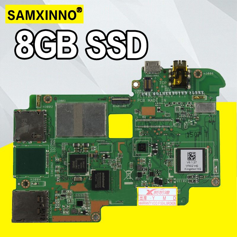 Tablet motherboard Logic board System Board For Asus FonePad 7 FE170CG 8GB Mobile Phone New Ultra Stable Fully Tested