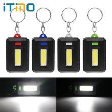 ITimo Portable Lighting 3 Modes Keychain Light LED Flashlight COB Torch For Camping Hiking Hunting(China)