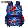 Hot Sale 2016 Children Spiderman School Bag Kids Cartoon Backpack Boy Student Waterproof 3D Print Character Orthopedic Schoolbag