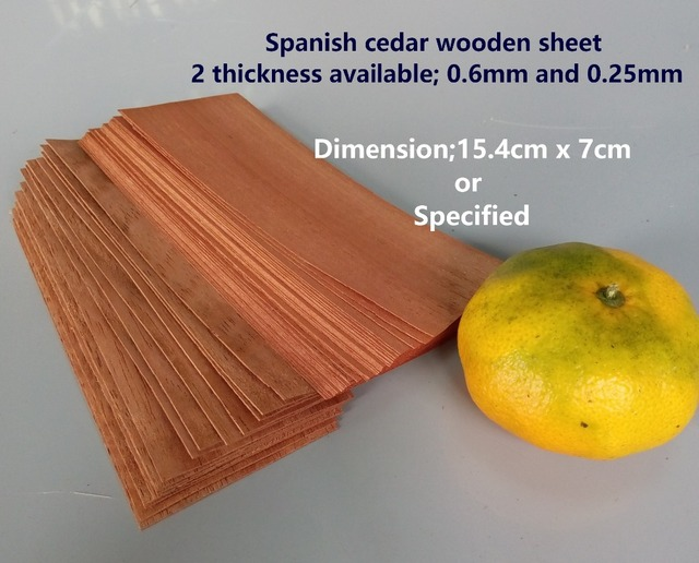 SIMU foglio di legno di cedro Spagnolo per memorizzare e assorbire l ...
