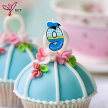 Creative Girls Number 9 Candle Cake Ages Party Kids Birthday Decorations Colorful Supplies