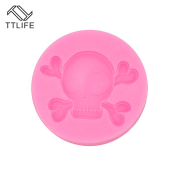 TTLIFE Skull Mask Silicone Molds Fondant Cake Candy Chocolate Dessert Kitchen Baking Mould Sugar Craft Gum Pate Decorating Tools image