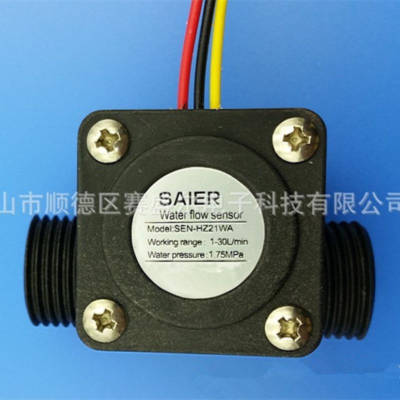 10pcs Water Flow Meter Sensor Flowmeter pool float switch Hall fuel flowmeter water heaters,credit card machine G1/2 1-30L/Min
